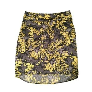 H&M Black/Yellow Floral Skirt